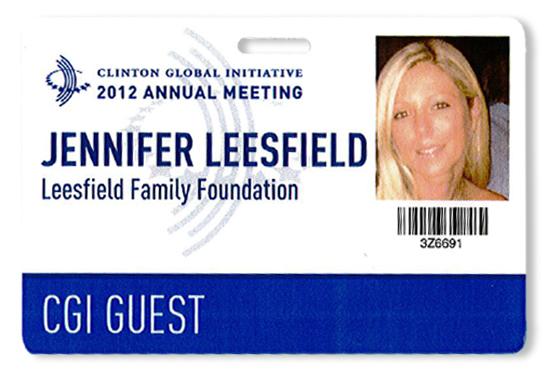 Jennifer Leesfield participates at the Clinton Global Initiative meeting