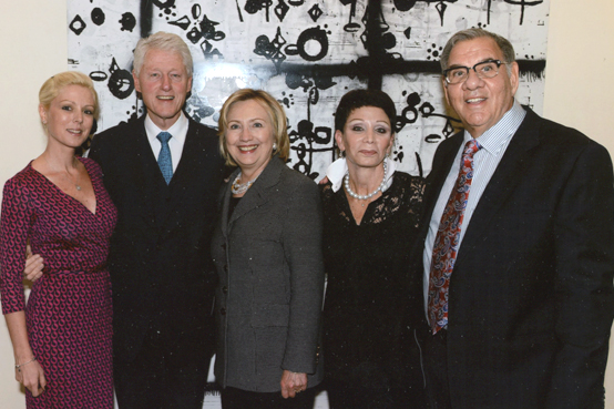 Jennifer Leesfield, President Bill Clinton, Hillary Rodham Clinton, Cynthia and Ira Leesfield